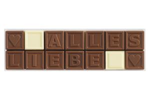 Chocotelegram® 14 AL 'Alles Liebe'