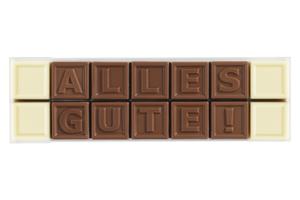 Chocotelegram® 14 AL 'Alles Gute!'