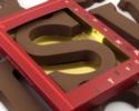 Schoko-Buchstabe 175 g. / 16 cm