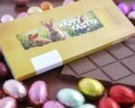 Ihre eigene Tafel Schokolade im Oster-Design 35 St.