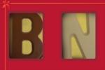 2 Schoko-Buchstaben im Schuber