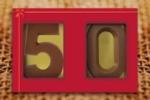Schoko-Zahlen im Schuber - Ab 10 Stück