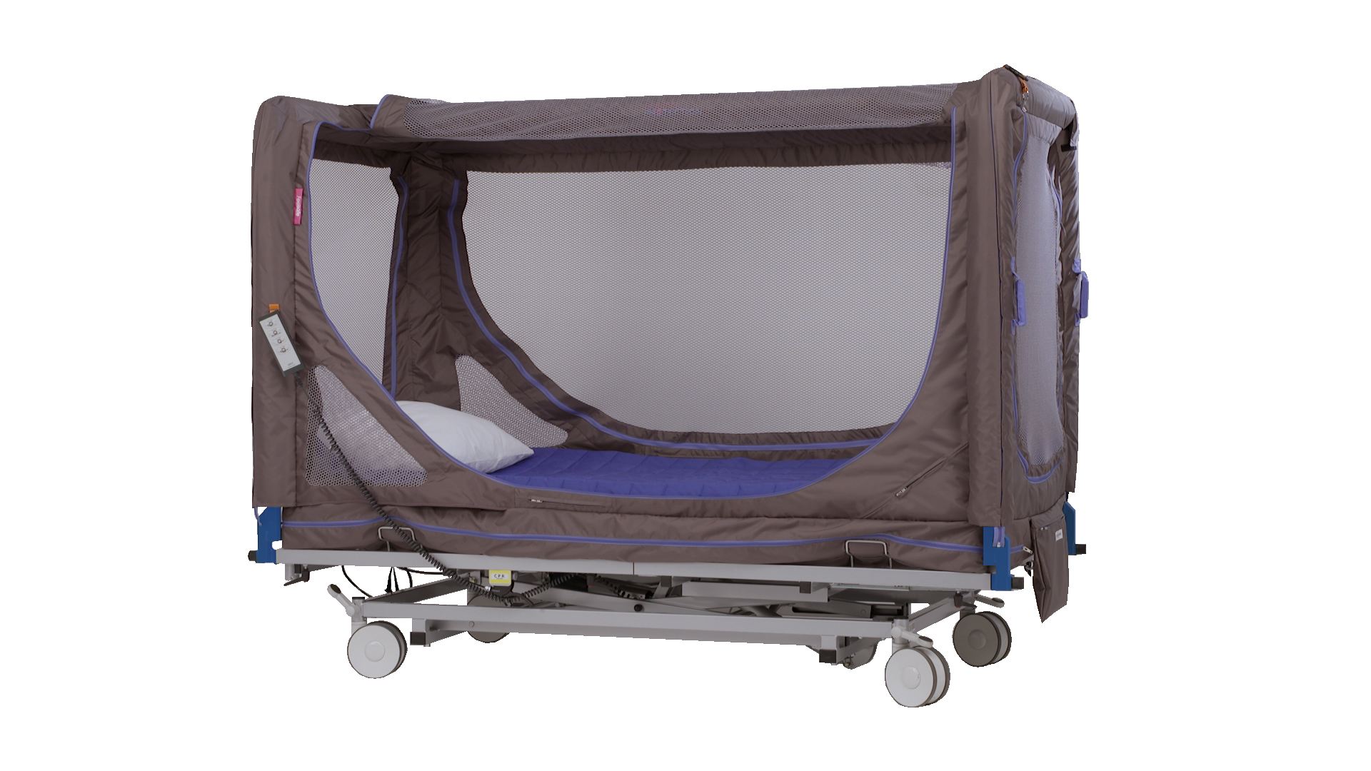 Canopy bed for dementia patients with behavioural problems