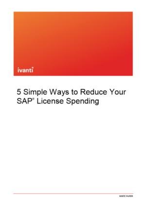 5 manieren om uw SAP®-uitgaven voor licenties te verminderen