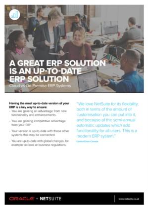Cloud ERP: uw ERP altijd up-to-date