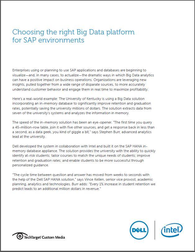 Kies het juiste big data platform voor uw SAP-omgeving