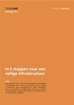 In 5 stappen naar een veilige infrastructuur