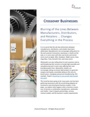Vervaging van de grenzen tussen fabrikanten, distributeurs en detailhandelaren