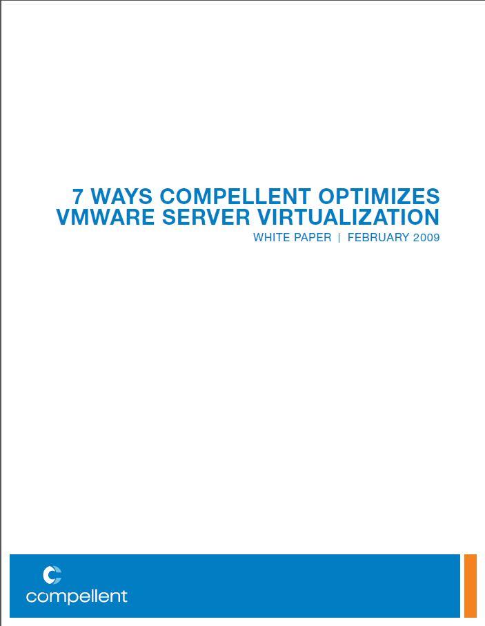7 Manieren waarop SAN de Server Virtualisatie van VMware kan optimaliseren