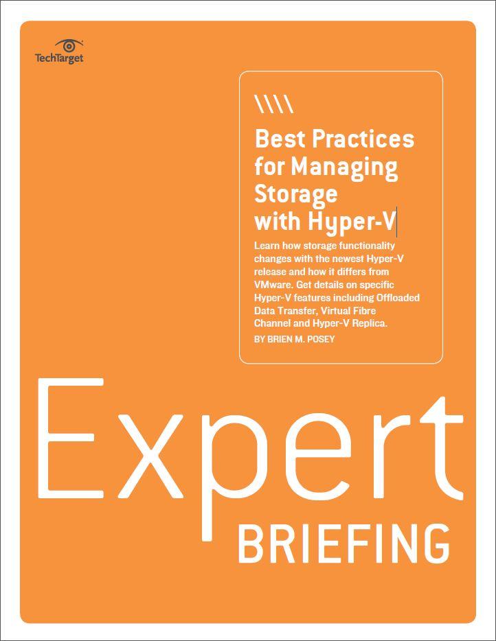 Best practices voor het beheren van storage met Hyper-V