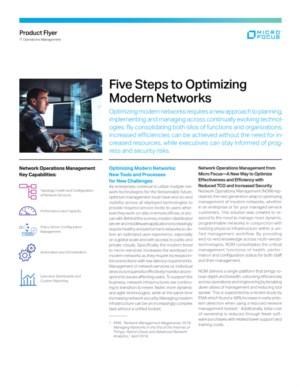 De vijf stappen waarmee u uw moderne netwerk kan optimaliseren