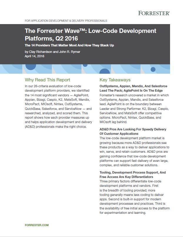 De 14 top aanbieders van Low-code development-platformen