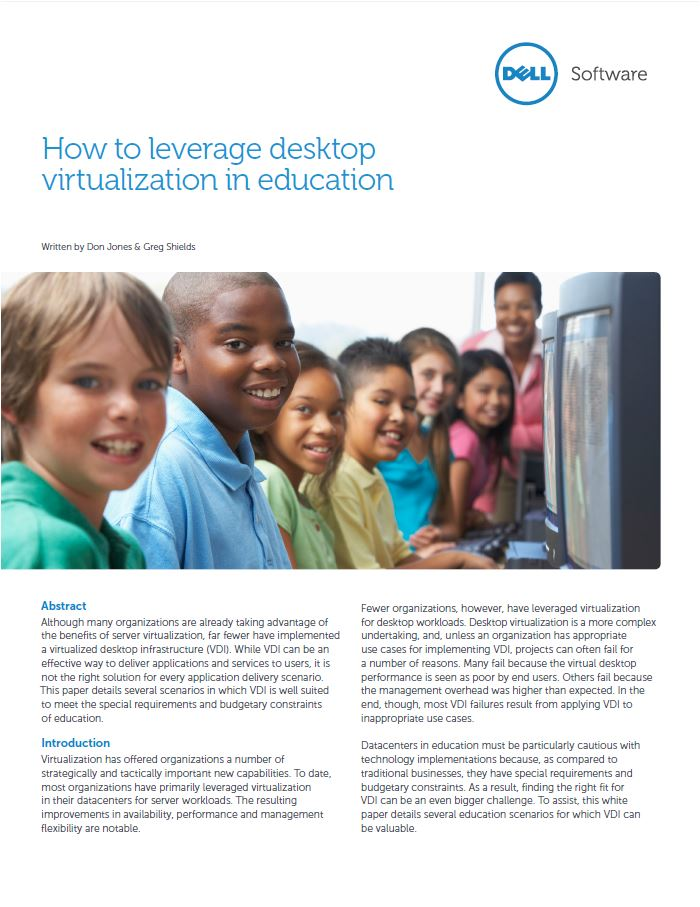 Desktop Virtualisatie: succes voor de onderwijsorganisatie van de toekomst
