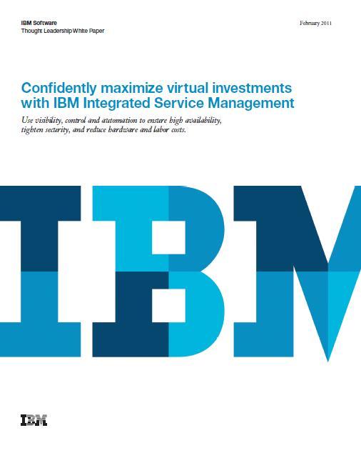 Haal het maximale uit uw virtualisatie-investering met Service Management