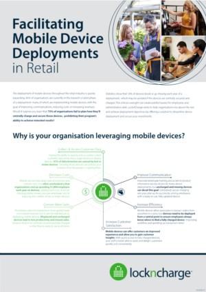 Implementatie van mobiele apparaten in de detailhandel vergemakkelijken