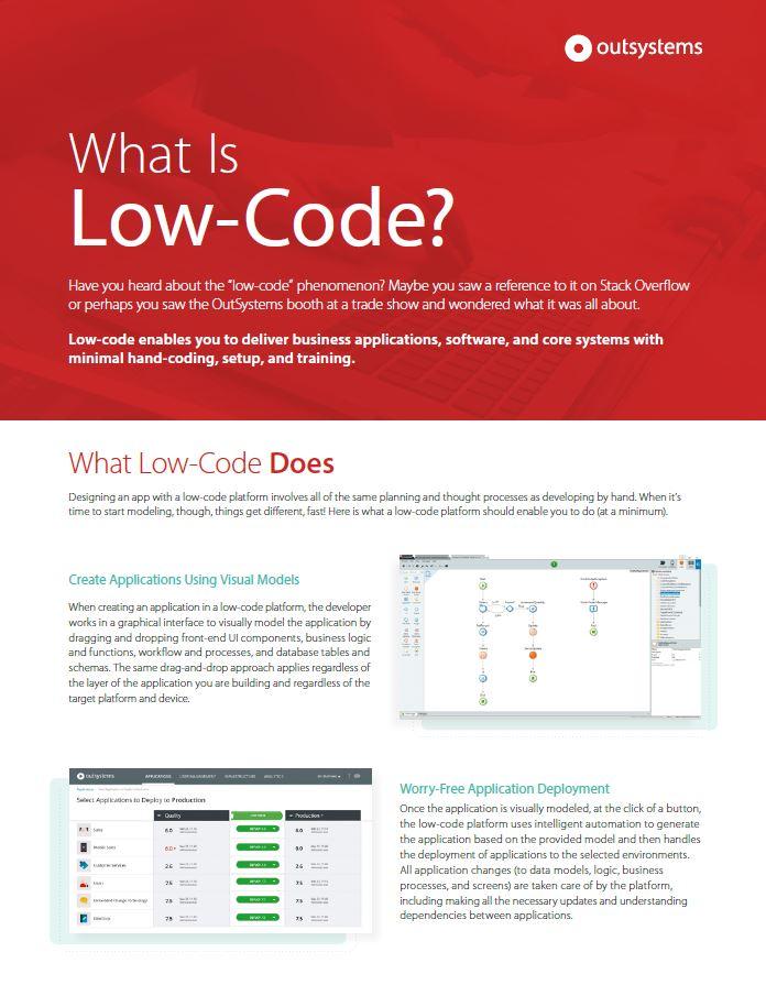 Wat is low code eigenlijk?