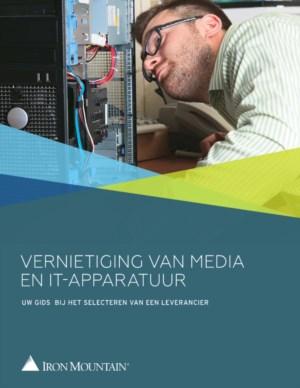 Vernietiging van Media en IT -Apparatuur
