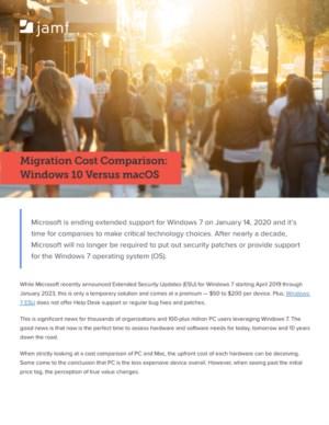 Windows 10 vs. macOS: Migratiekostenvergelijking