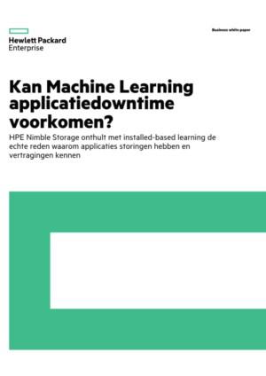 Kan Machine Learning applicatiedowntime voorkomen?