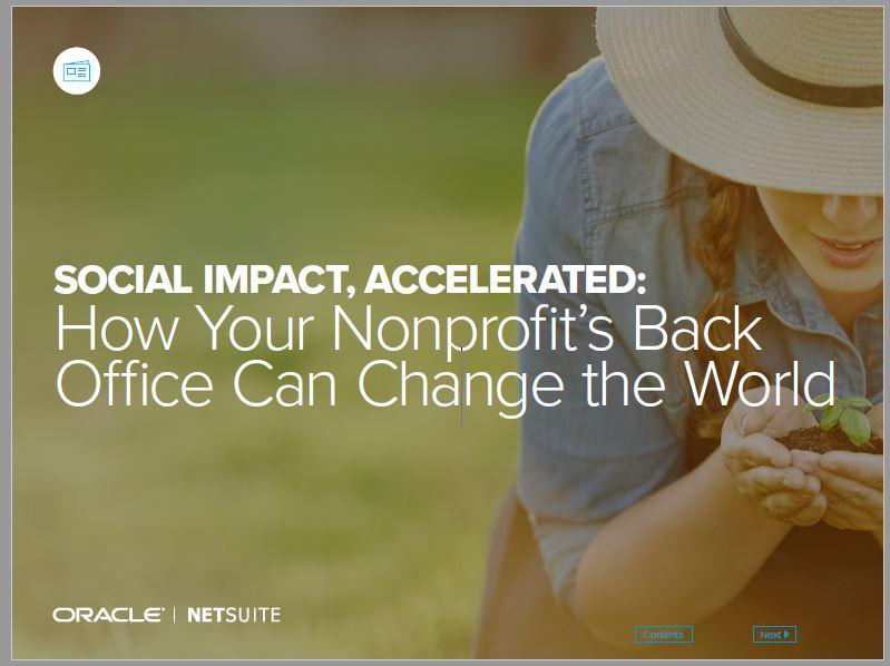 Hoe de back-office van nonprofit organisaties de wereld kan verbeteren