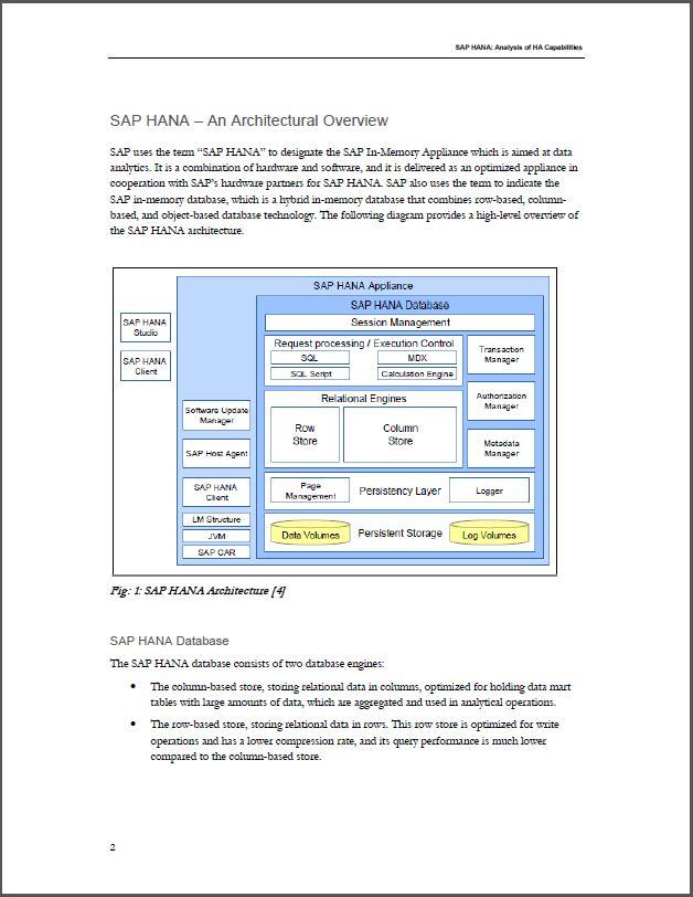 SAP HANA: Een analyse van de capaciteiten voor High Availability (HA)
