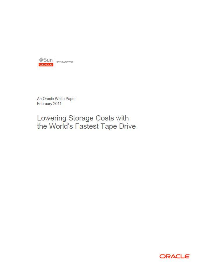 Storage kosten verlagen met een zeer snelle Tape Drive