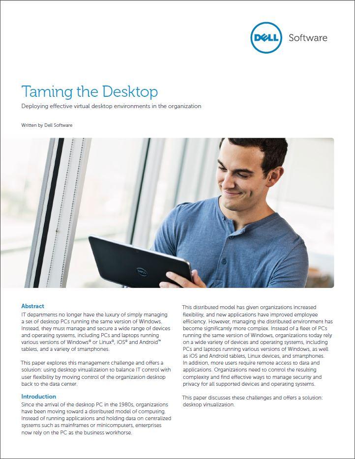 Tem de stortvloed aan verschillende devices en besturingssystemen met desktop virtualisatie