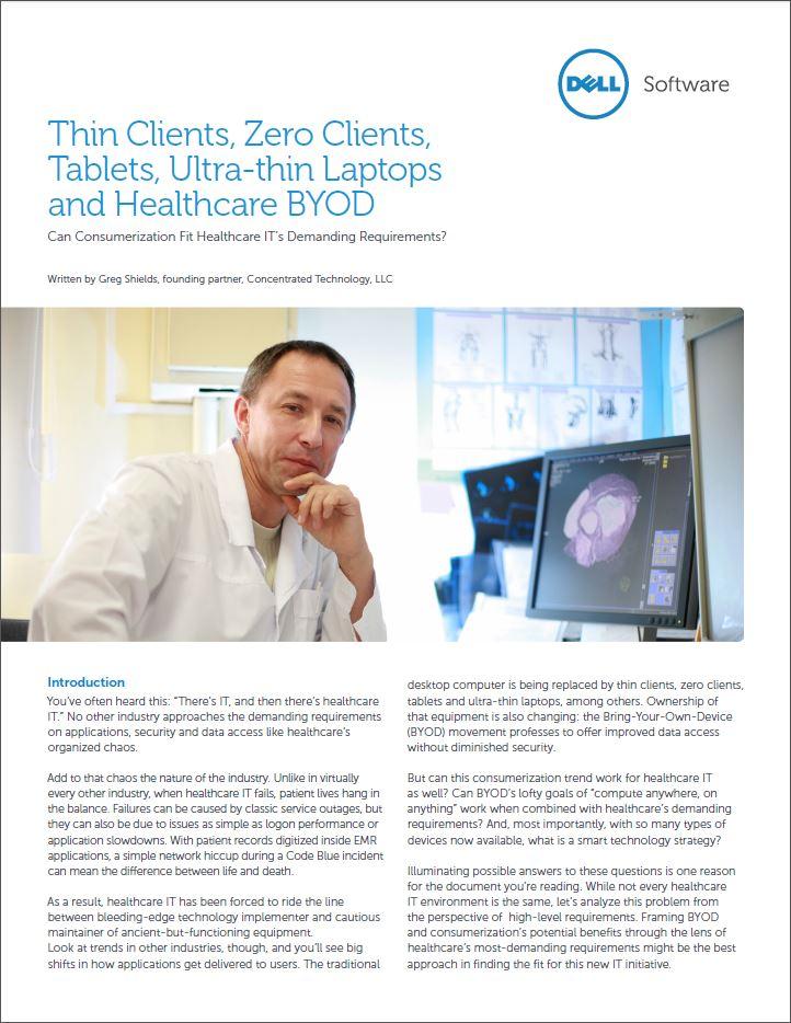 Kansen en uitdagingen: is de gezondheidszorg klaar voor BYOD?