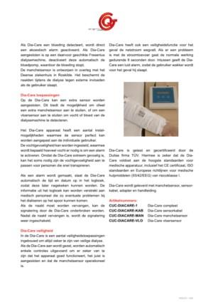 Dia-Care Bloed / vloeistof detectie voor hemodialyse thuis