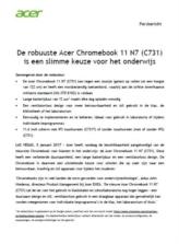 De robuuste Acer Chromebook 11 N7 (C731) is een slimme keuze voor het onderwijs