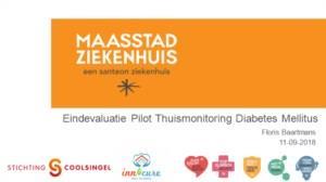 Eindevaluatie pilot thuismonitoring Diabetes Mellitus Maasstad ziekenhuis