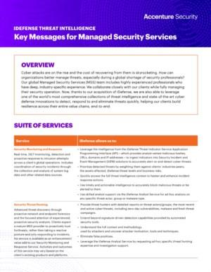 Key Messages for Managed Security Services