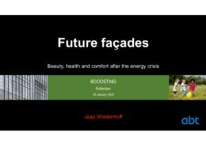 Future façades: Beauty, health and comfort after the energy crisis
