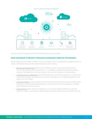 De specifieke voordelen van het Cloud Data Management platform van Rubrik voor serviceproviders