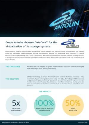 Grupo Antolin chooses DataCore™ for the virtualisation of its storage systems