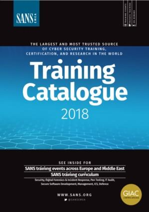 SANS Institute Training Catalogue 2018