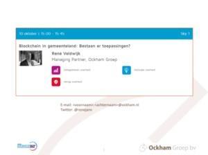 Blockchain in gemeenteland: Bestaan er toepassingen? - Presentatie