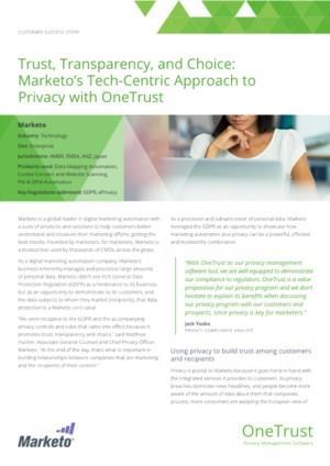 OneTrust Marketo Case Study