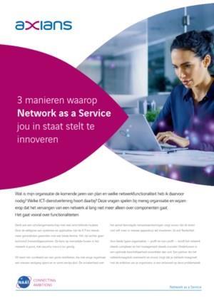 3 manieren waarop Network as a Service jou in staat stelt te innoveren