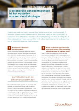 5 belangrijke aandachtspunten bij het opstellen van een cloud strategie