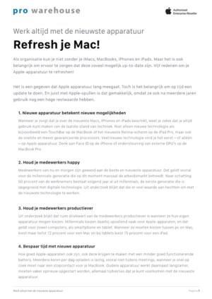 Vijf redenen om je Apple-apparatuur te refreshen!