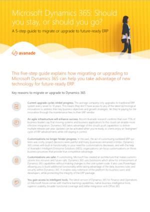5 stappen om te migreren naar Dynamics 365