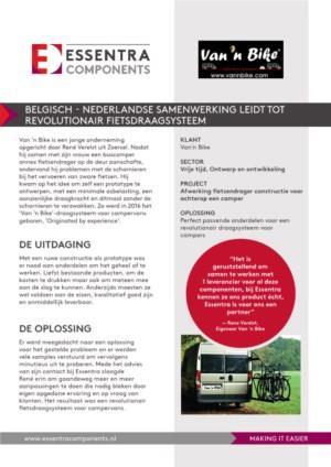 Van 'n Bike - Casestudy - Belgisch-Nederlandse samenwerking leidt tot revolutionair fietsdraagsysteem