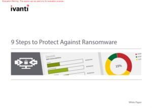 In 9 stappen veilig tegen Ransomware