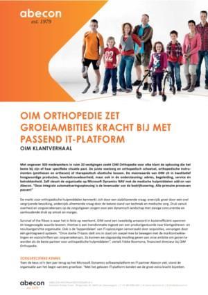 OIM Orthopedie zet groeiambities kracht bij met passend IT-platform