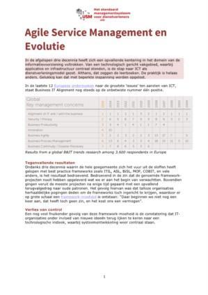 Agile Service Management en Evolutie