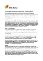 Arcadiz gaat samenwerking aan met Arista Networks