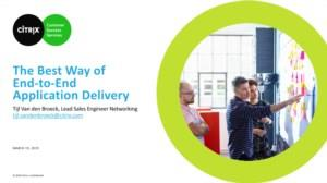 The best way of end-to-end application delivery (Powered by Arrow ECS)