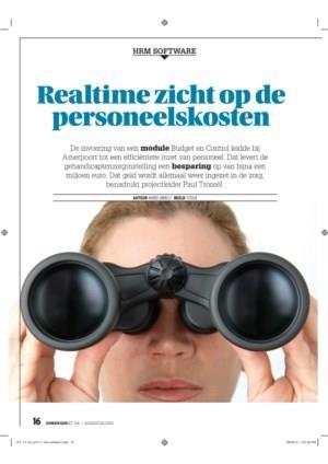 Realtime zicht op de personeelskosten