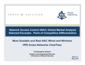 Network Access Control (NAC) Global Market Analysis Selected Excerpts